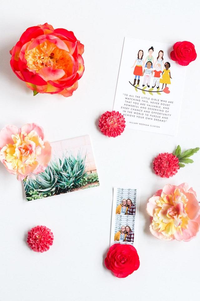 Imãs de flor para o dia das mães