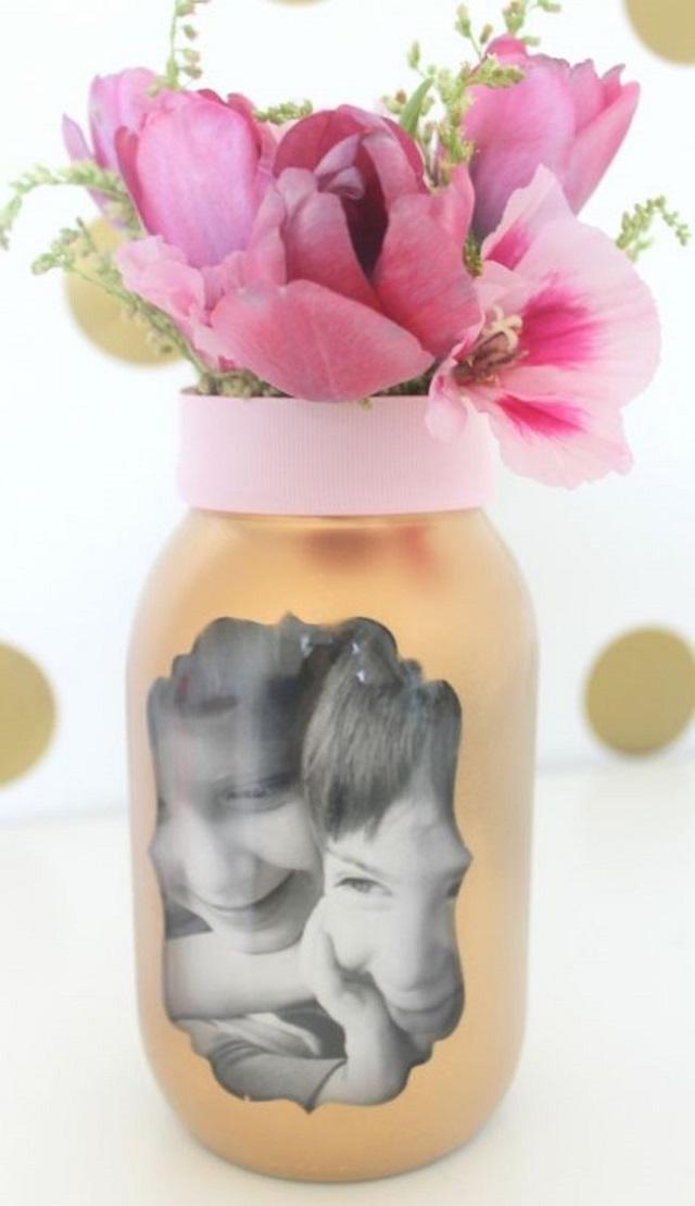 Vaso personalizado para o dia das mães