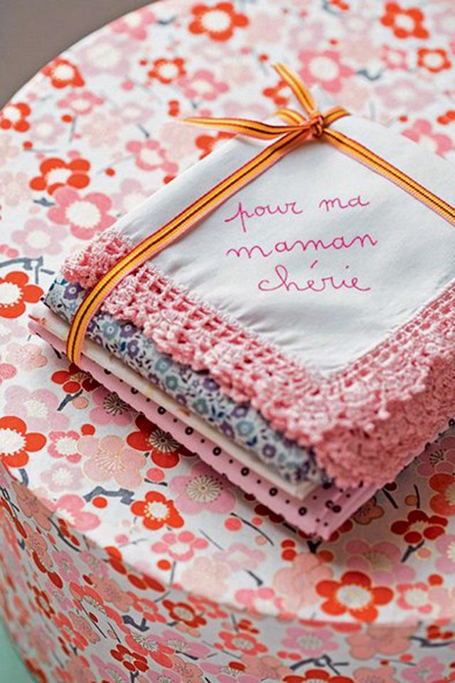 Lenço personalizado para o dia das mães