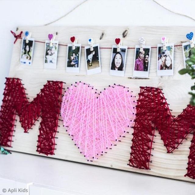 Painel de fotos para o dia das mães