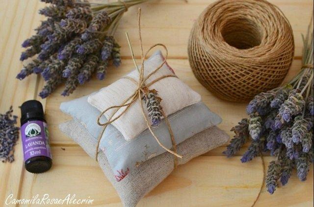 Sachês perfumados de lavanda