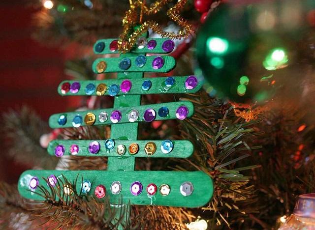 Árvore de Natal de palito de picolé