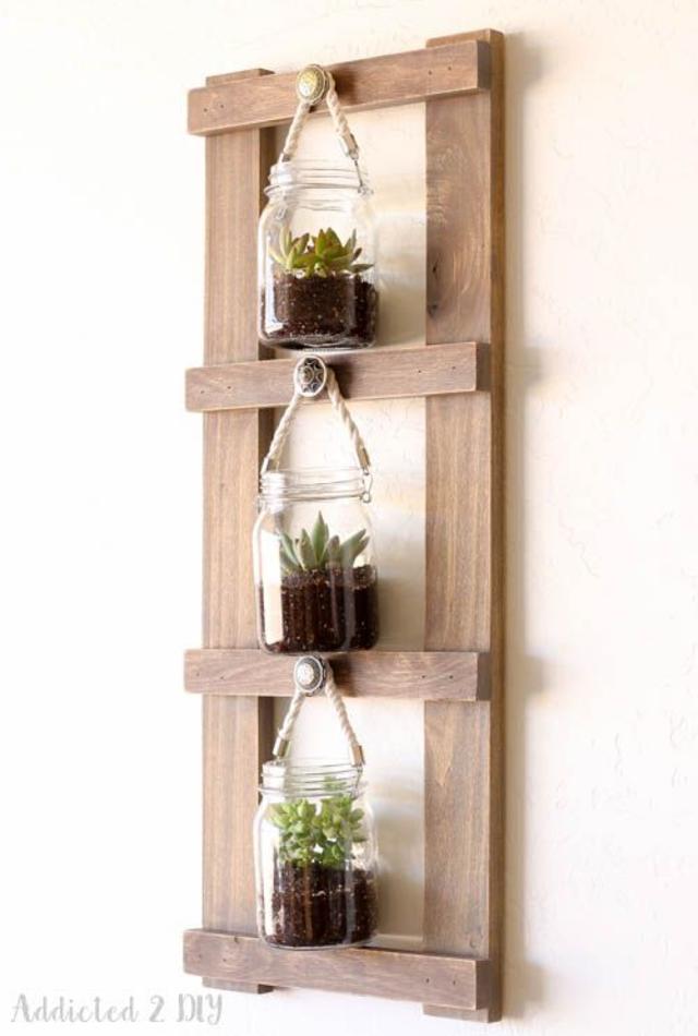 Suporte para plantas de madeira