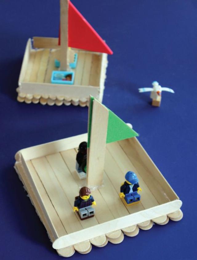 Barco de palito de picolé