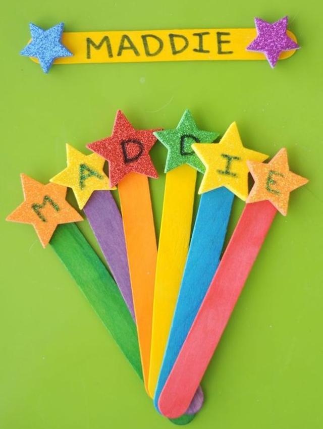 Brinquedos educativos de palito de picolé
