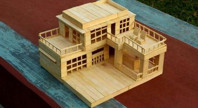 Casa de palito de picolé