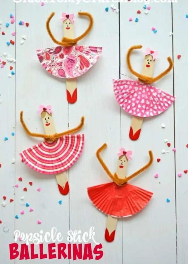 Bailarinas de palito de picolé