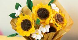 Flor de Feltro: 65 Estilos Lindos + Moldes para Baixar