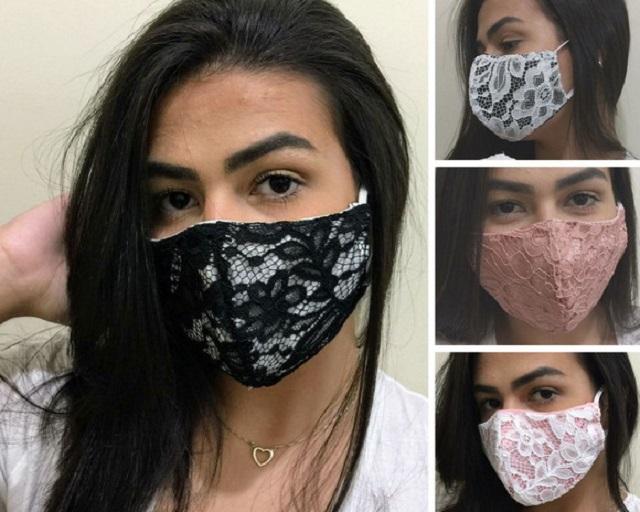 Máscara de proteção de renda