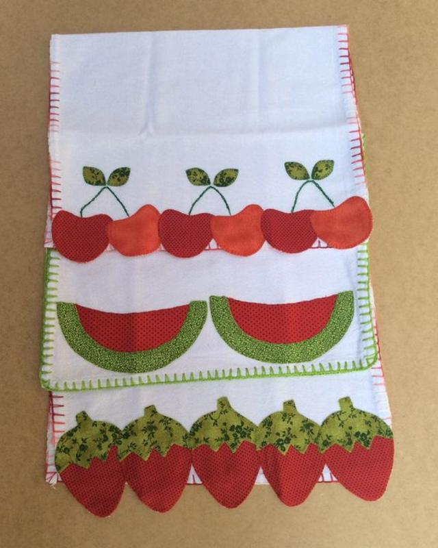 Panos de prato de frutas patchwork