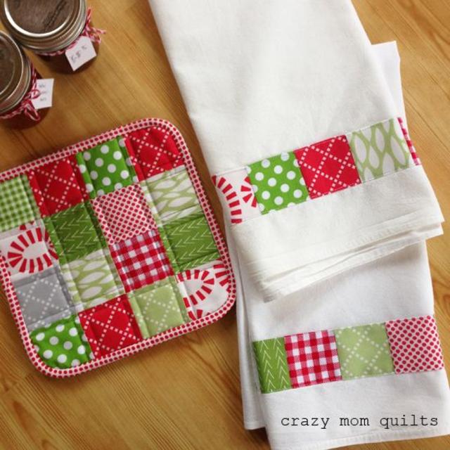Panos de prato patchwork