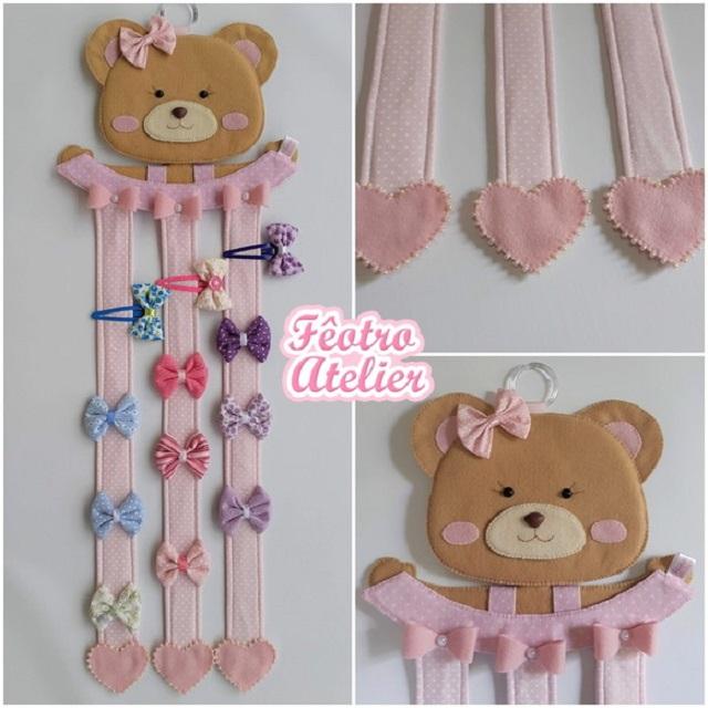 Porta laços e fitas de ursinha