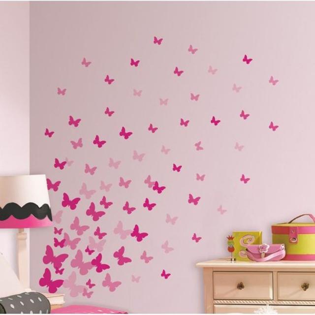 Stencil para parede de borboletas