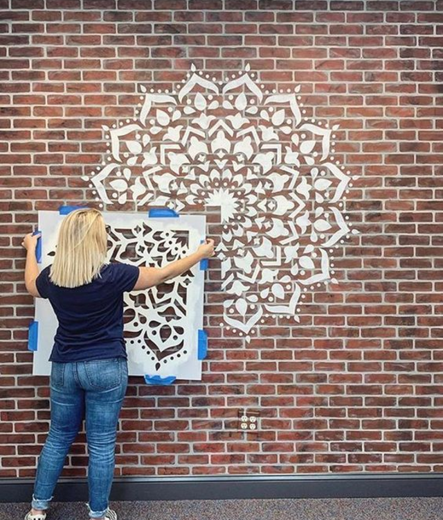 Mandala de stencil para parede