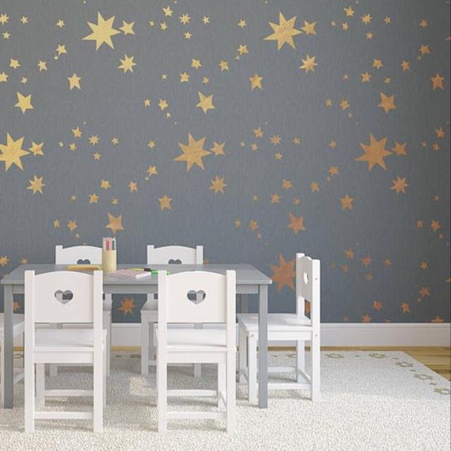 Stencil para parede de estrelas
