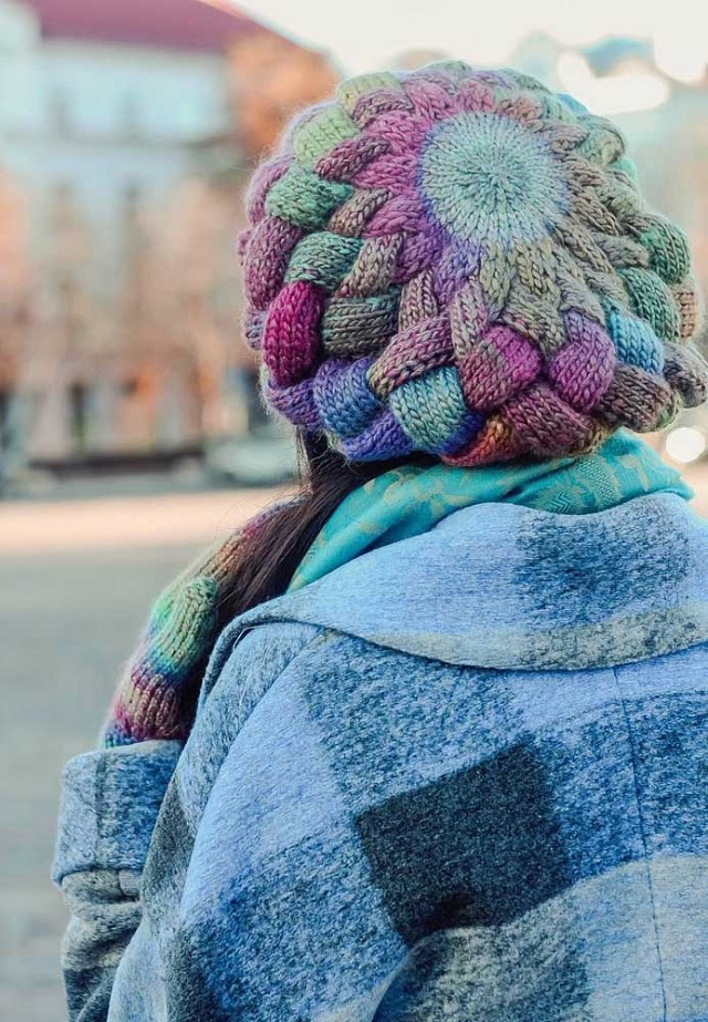 Touca de crochê estilo boina