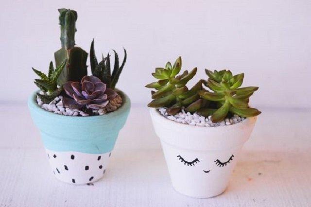 Vasos para suculentas personalizados