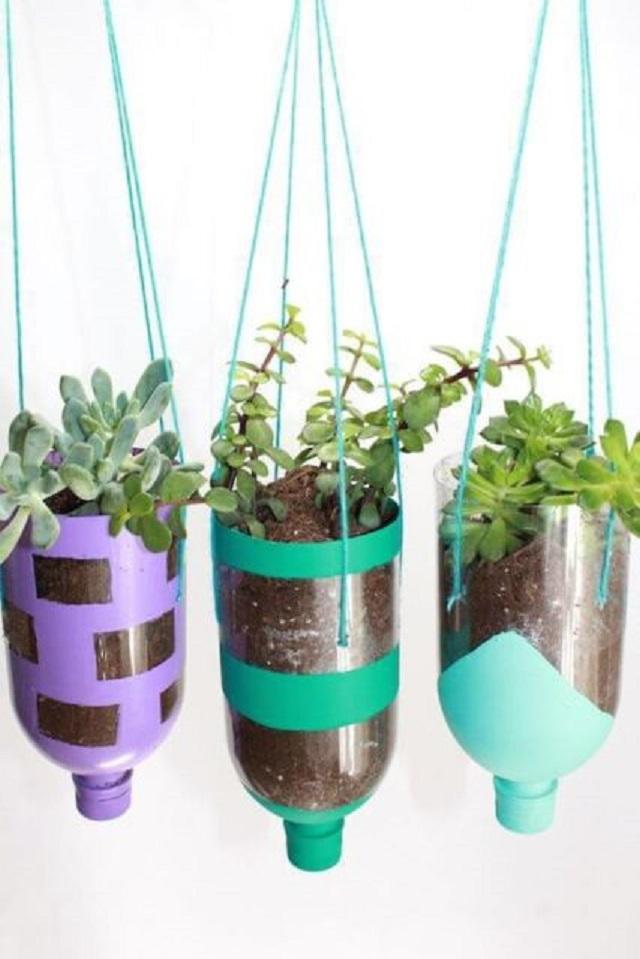 Vasos para plantas de garrafa pet
