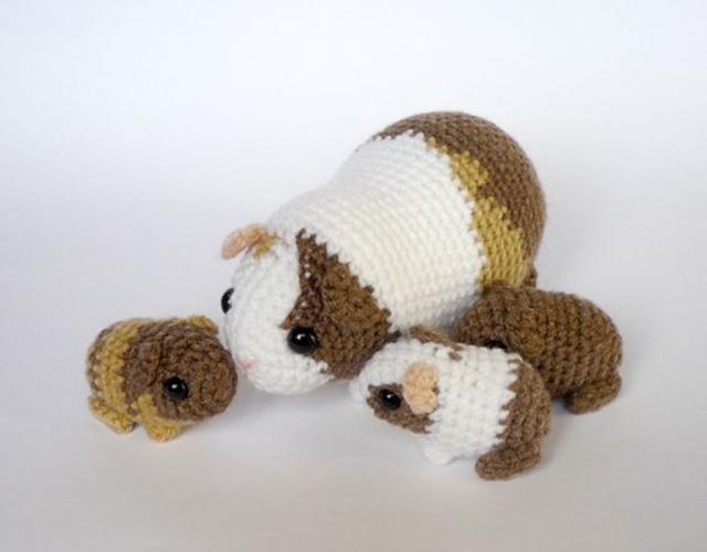 Hamster de amigurumi