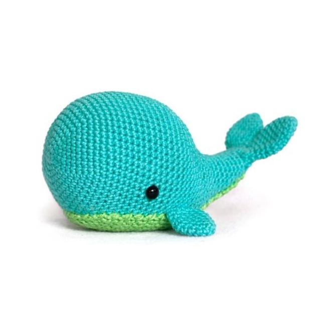 Baleia de amigurumi