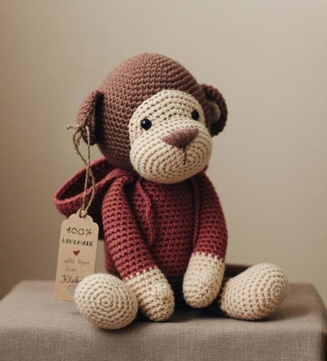 Macaco de amigurumi