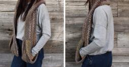 Como Fazer Cachecol com Bolso em Crochê: Passo a Passo Completo