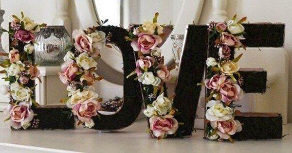 Letras 3D para decoração
