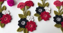 33 Flores de Crochê para Aplicação + Passo a Passos Maravilhosos