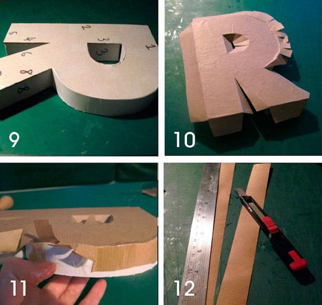 Como fazer letra 3D