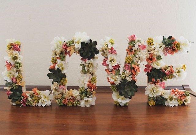 Palavra love com letras 3D