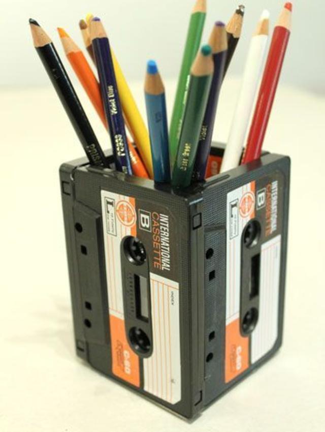 Porta lápis de fita k7