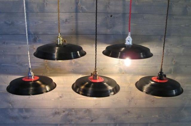 Luminárias de dico de vinil