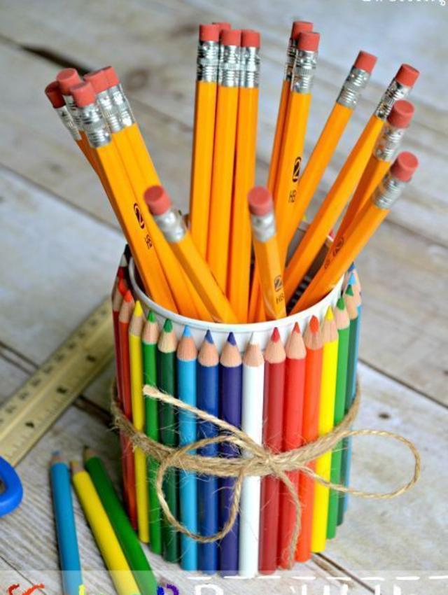 Posta lápis de material reciclável
