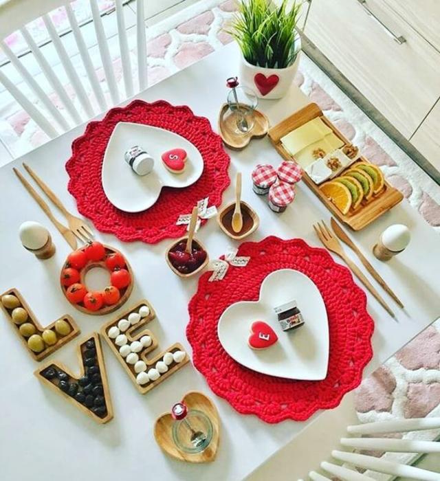 Decoração dia dos namorados para café da manhã