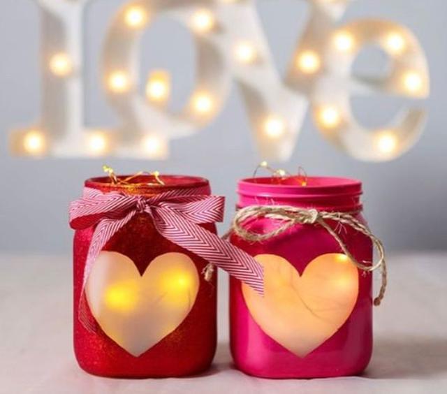 Decoração dia dos namorados com velas aromatizadas