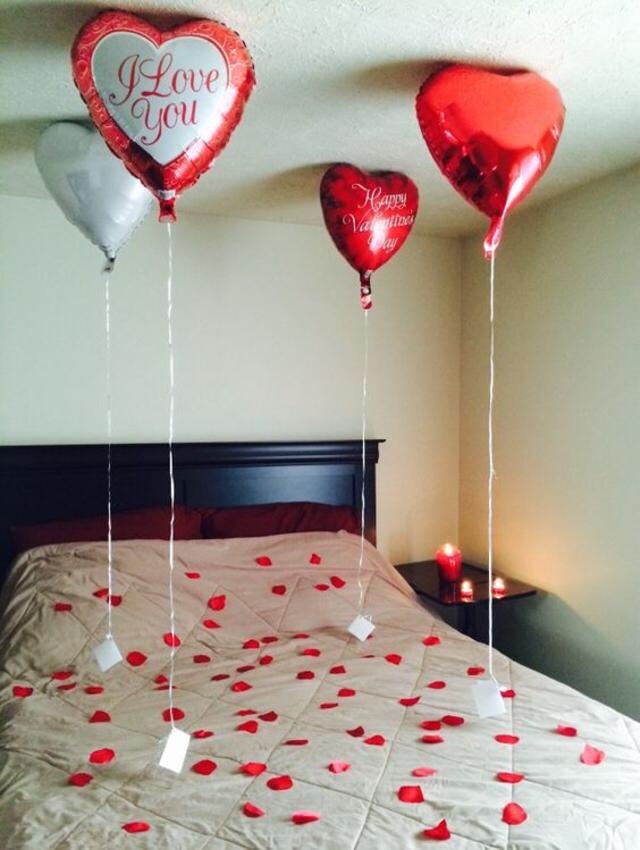 Decoração dia dos namorados com balões