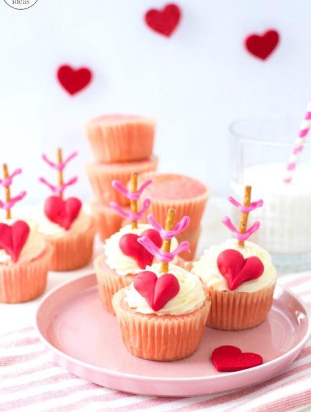 Decoração dia dos namorados com cupcakes