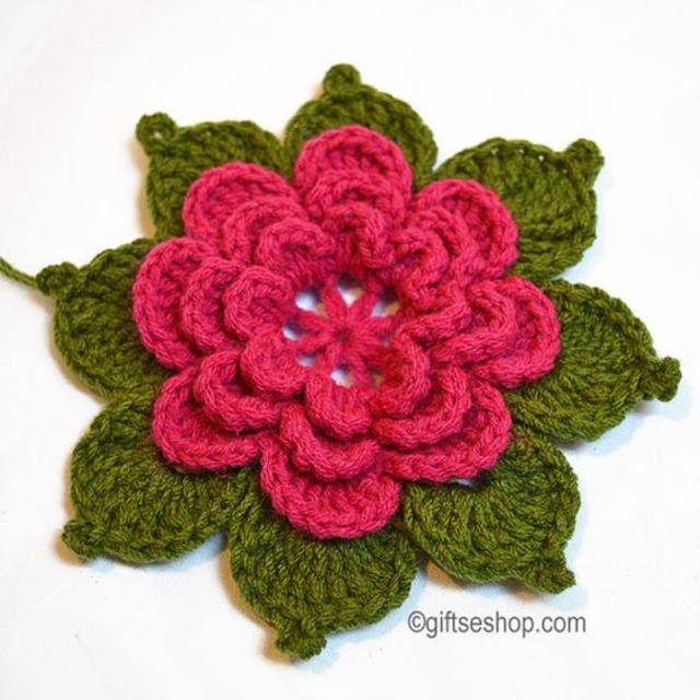 Flor de crochê para aplicação