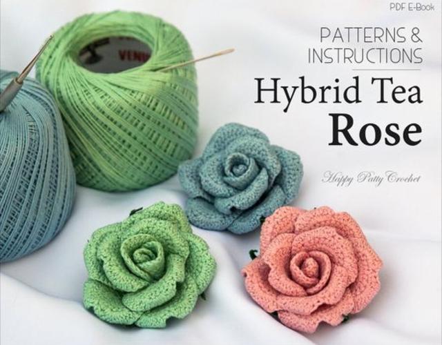 Flores de crochê para aplicação