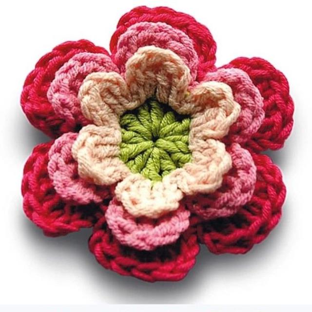 Florde crochê para aplicação