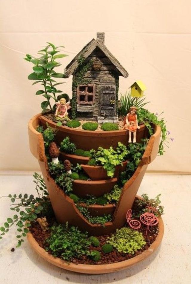 Mini jardim com fadas