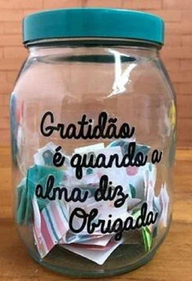 Potinho do amor gratidão
