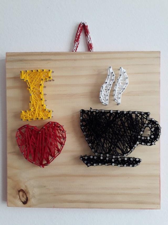 String art i love café