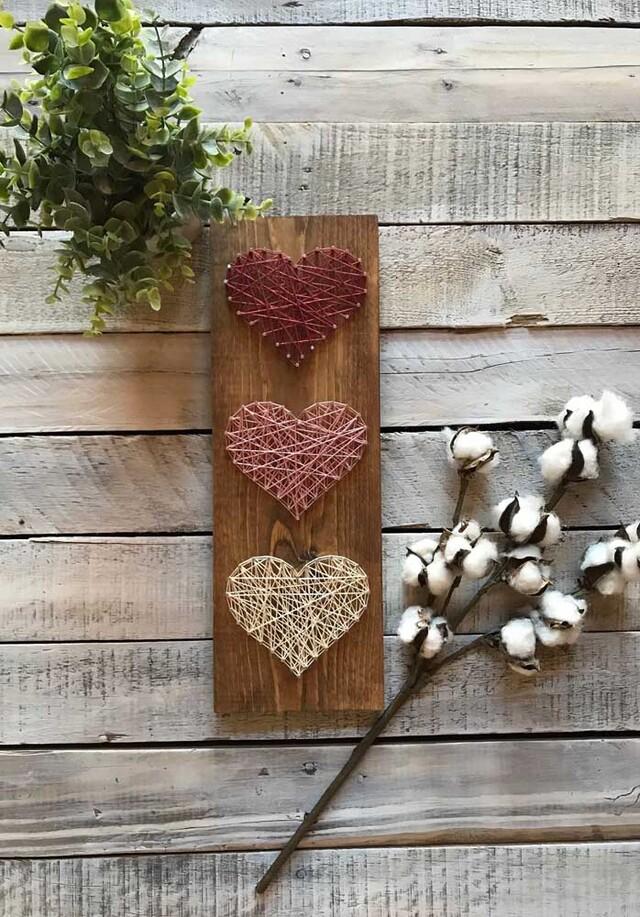 String art de corações