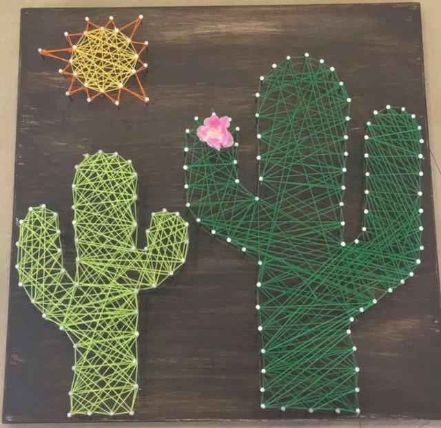String art de cactos