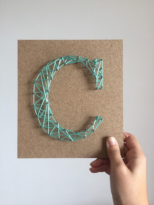String art letra c