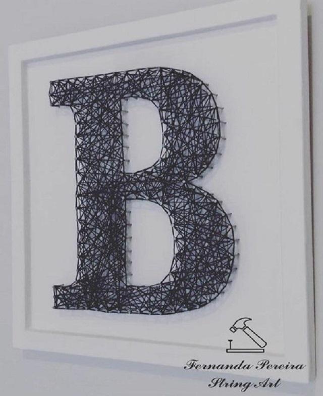String art letra b