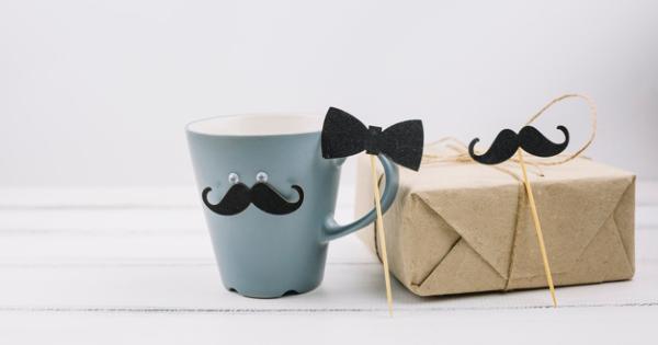 Caneca com bigode para dia dos pais