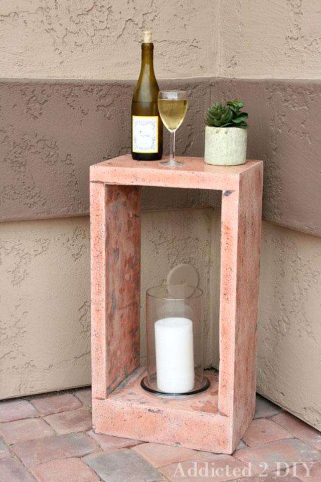 Bloco de cimento para decoração