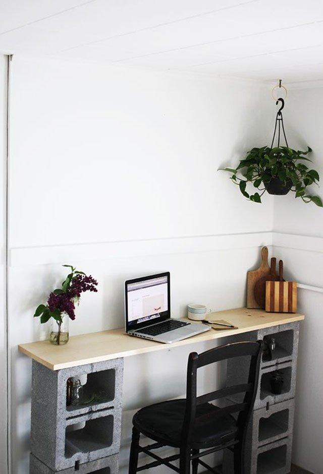 Escrivaninha de bloco concreto